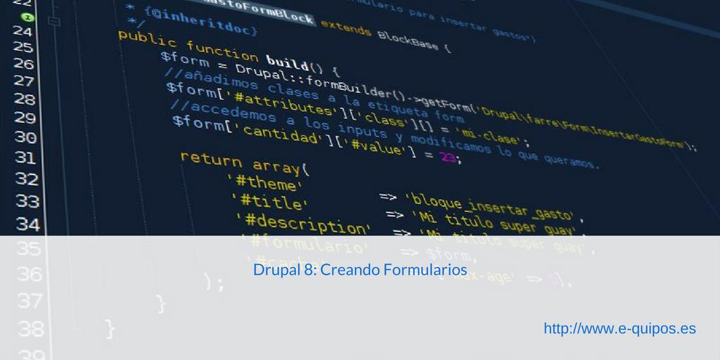 Imagen de Cabecera - Drupal 8: Creando Formularios